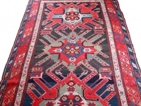 Antique Kazak Caucasian Carpet - IB08616