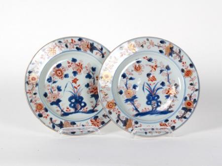 Pair of Chinese Round Plates Imari  - IB08634