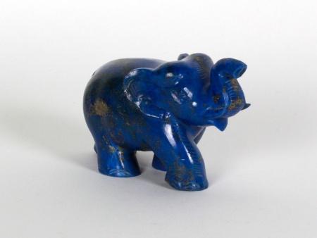 Elephant Figurine in Lapis Lazuli - IB08653