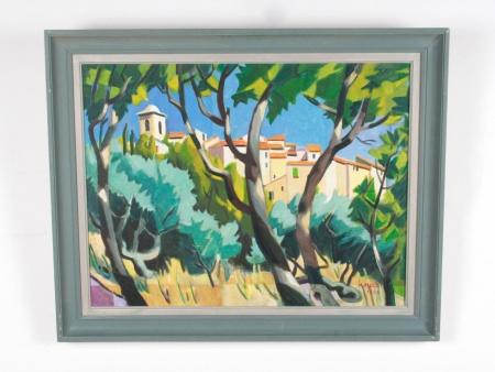 "Maurice Mulot: ""Le Village de Ramatuelle"" - IB08722"
