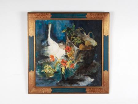 """Jean François Dolbeau: """"Nature Morte: Carafe et Fleurs"""" - IB08750"""