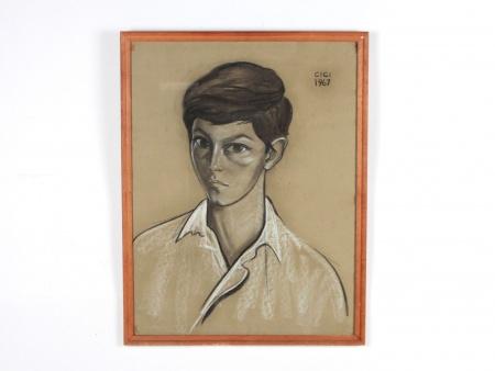 "Cici Tommaseo Sursock: ""Portrait de Garçon"" - IB08760"