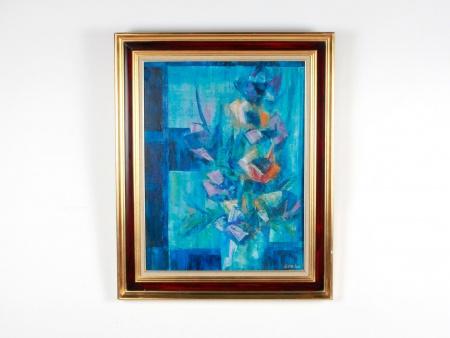 """Victor Spahn: """"Composition Abstraite aux Tons Bleus"""" - IB08774"""