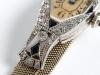 Art Deco Bracelet Watch in Platinum, Diamonds and Sapphires - IB03776