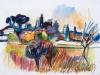 """Jean Marzelle: """"Paysage de St Rémy"""" - IB08772"""